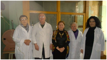 Employeas of the Laboratory of Physical-Chemical Analysis