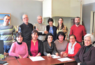 Employes of the R.Dogonadze Laboratory of the Theoretical Studies